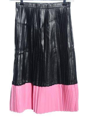 Supertrash Gonna pieghettata nero-rosa stile casual