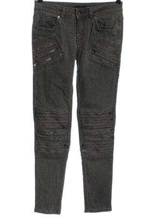 Supertrash Jeans a sigaretta grigio chiaro stile casual