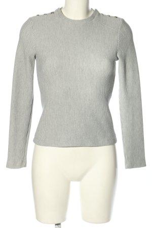 Supertrash Maglione girocollo grigio chiaro-bianco sporco motivo a righe