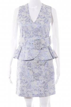Supertrash Peplum Dress purple-natural white