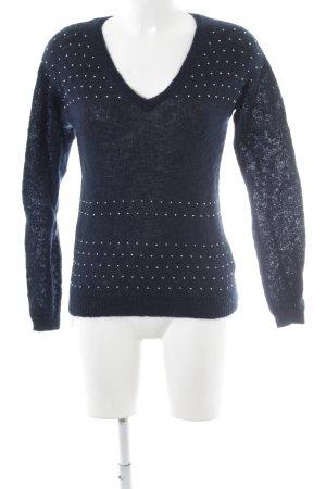 Supertrash V-Ausschnitt-Pullover blau Casual-Look
