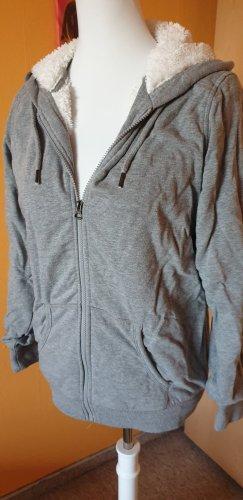 Blue Motion Giacca con cappuccio grigio chiaro-bianco Cotone