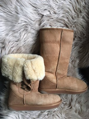 Emu Fur Boots light brown fur