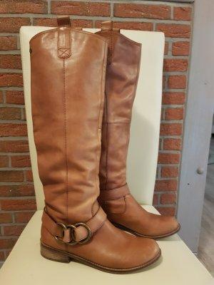 SPM Shoes & Boots Bottes à l'écuyère cognac cuir