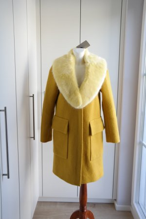 Zara Bufanda de lana amarillo-amarillo neón Poliéster