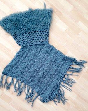 Preziosa Poncho azul aciano-turquesa