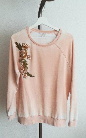 Superweicher Sweater mit Blumenstickerei