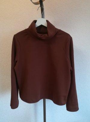 Only Sweter z golfem brązowy