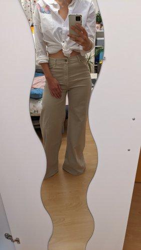 Heartless Pantalón de campana blanco puro-beige claro