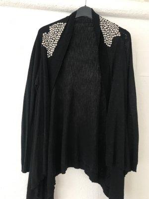 0039 Italy Smanicato lavorato a maglia nero