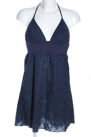 Supre Vestido de cuello Halter azul look casual