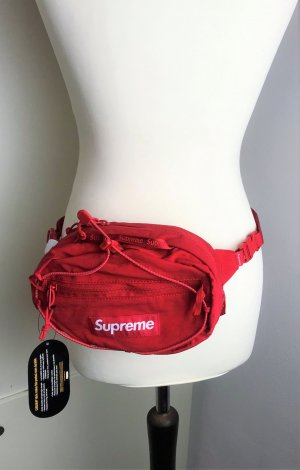 * SUPREME * NEU & original WAIST BAG BAUCH TASCHE BELT BAG  Nylon rot