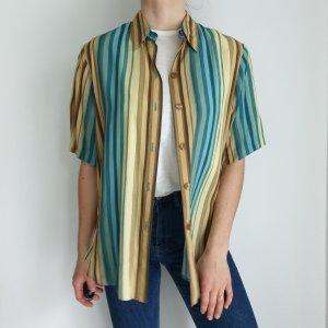 Suprise Hemd True vintage Bluse oversize streifen blau gelb top Shirt