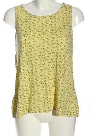 Sure Blusa senza maniche giallo pallido-nero stampa integrale stile casual