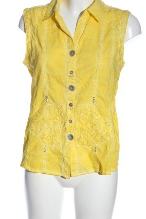 Sure Camicia blusa giallo pallido stile casual