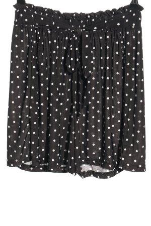 Sure Pantaloncino a vita alta nero-bianco motivo a pallini stile casual