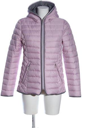 Sure Giacca con cappuccio rosa-grigio chiaro motivo trapuntato stile casual
