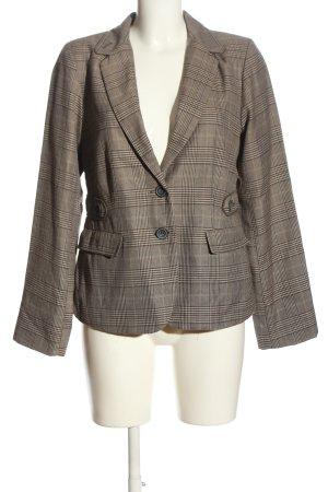 Sure Blazer corto marrone-grigio chiaro motivo a quadri stile professionale