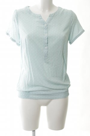 Sure Kurzarm-Bluse abstraktes Muster Business-Look