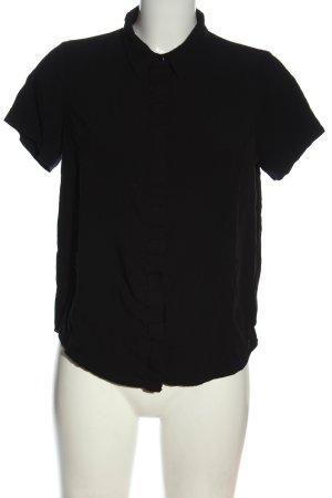 Sure Kurzarm-Bluse schwarz Casual-Look