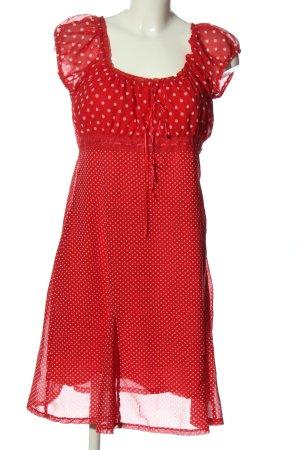 Sure Kurzarmkleid rot-weiß Allover-Druck Elegant