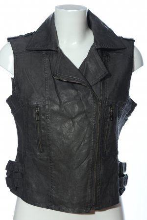 Sure Biker Vest black quilting pattern casual look