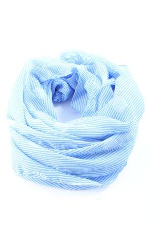 Sure Tela palestino blanco-azul estampado a rayas look casual