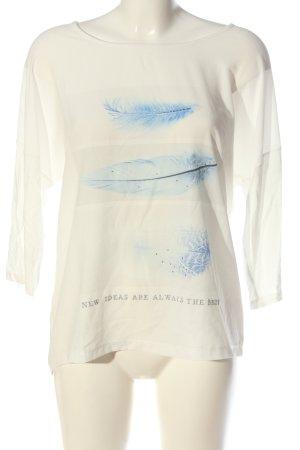 Sure Camicia fantasia bianco sporco-blu Stampa a tema stile casual