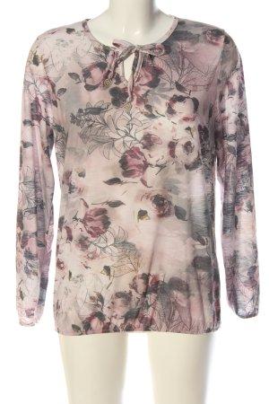 Sure Camicetta da notte rosa-grigio chiaro motivo floreale stile casual