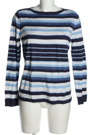 Sure Camicia maglia blu-bianco stampa integrale stile casual