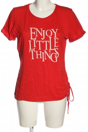 Sure T-Shirt red-white embroidered lettering casual look