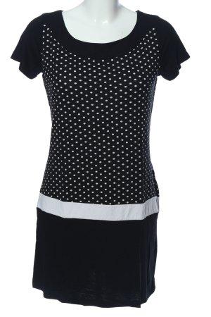 Sure Blusa a tunica nero-bianco motivo a pallini stile casual