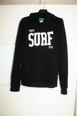 SURF Hoodie schwarz kuschelig warm Kapuzenpullover