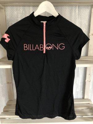 Billabong Ropa playera negro-rosa neón