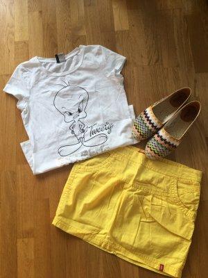 edc by Esprit Jupe en lin jaune coton