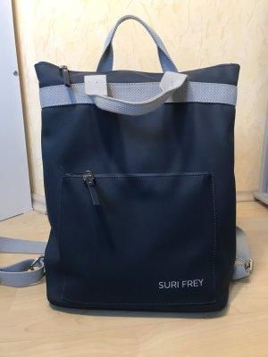 Suri Frey Laptop Rucksack blau grau viele Fächer Business/ Freizeit Look
