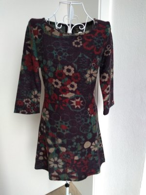 Surkana Wollen jurk paars-grijs-lila