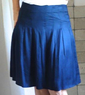 Surkana Plisowana spódnica ciemnoniebieski Wiskoza