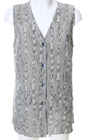 Surprise Chaleco de vestir gris claro estampado con diseño abstracto