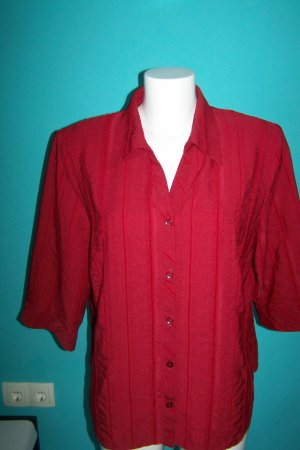 Surprise Blusa estilo Crash rojo oscuro Viscosa
