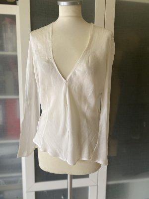 Susanne Bommer Blusa in seta bianco