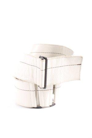 Susanne Bommer Cinturón pélvico blanco puro look casual