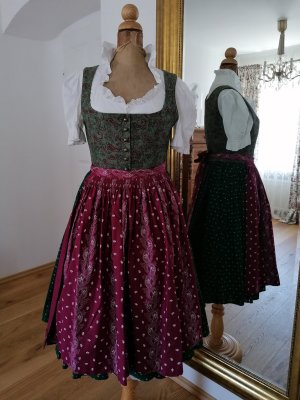Lena Hoschek Corsage Dress magenta-forest green