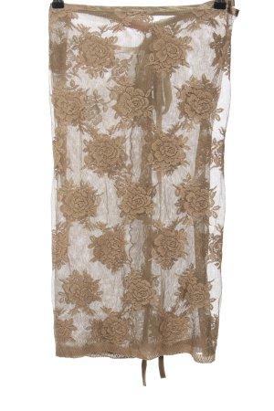 Suspect Wraparound Skirt brown-white flower pattern casual look