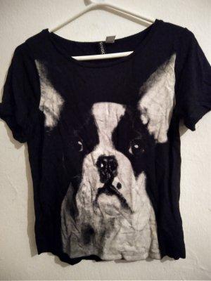 H&M Divided T-shirt imprimé noir-gris clair