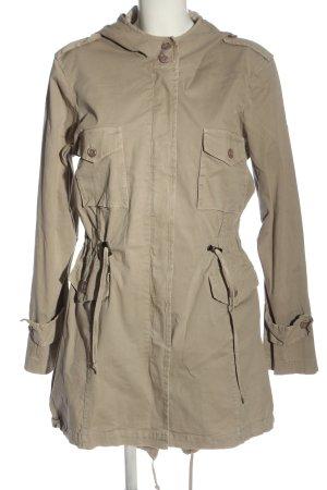 Susy Mix Płaszcz z kapturem w kolorze białej wełny W stylu casual