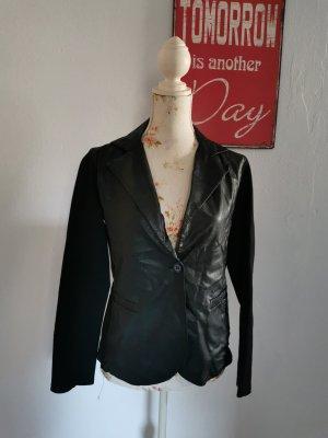 SusyMix Leather Blazer black