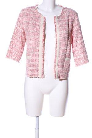 SusyMix Kurzjacke pink-creme Karomuster Business-Look