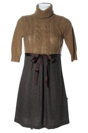 SusyMix Pulloverkleid braun meliert Casual-Look