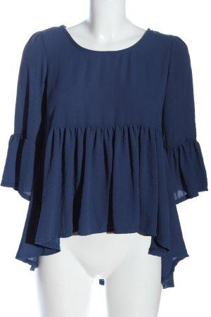 SusyMix Rüschen-Bluse blau Casual-Look
